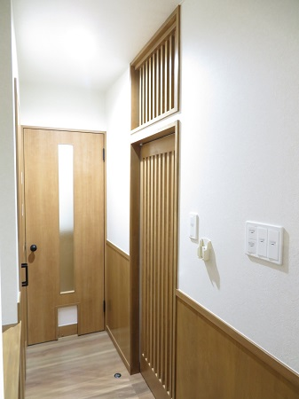 LDK廊下 ドア